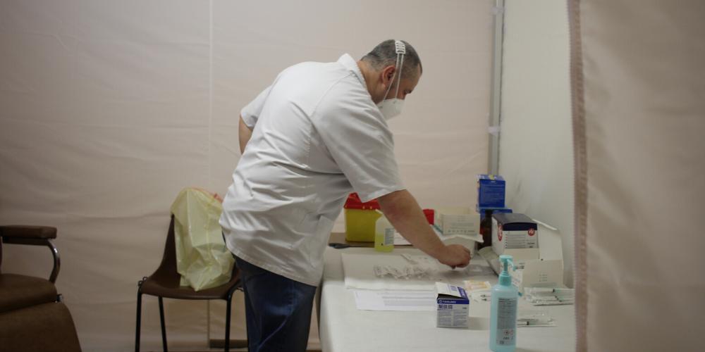 Centre de vaccination à Toucy © Crédit photo : Service communication de la Communauté de communes de Puisaye-Forterre